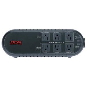 パワーコムジャパン 無停電電源装置 テーブルタップタイプ 常時商用給電方式 出力コンセント6個 出力容量700VA/350W 専用電源管理ソフトウェア付 WOW-700UBK