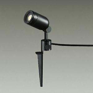 DAIKO LEDアプローチ灯 ランプ付 防雨形 ダイクロハロゲン50W相当 非調光タイプ 5.6W 高さ185mm 電球色 黒 キャプタイヤコード5m・差込プラグ付 DOL-3763YBF