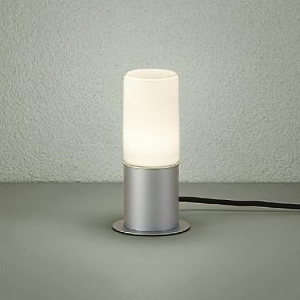 DAIKO LEDアプローチ灯 ランプ付 防雨形 白熱灯60W相当 非調光タイプ 6.6W 口金E26 高さ285mm 電球色 シルバー キャプタイヤコード5m・差込プラグ付 DWP-38628Y