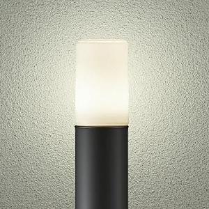 DAIKO LEDアプローチ灯 ランプ付 防雨形 白熱灯60W相当 非調光タイプ 6.6W 口金E26 高さ685mm 電球色 黒 DWP-38636Y