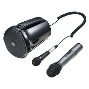 サンワサプライ 拡声器スピーカー・マイクセット ハイパワータイプ 充電式スピーカー MM-SPAMP3