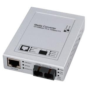 サンワサプライ 光メディアコンバータ SCコネクタ×2-RJ-45コネクタ×1 最大延長2000m LAN-EC202C