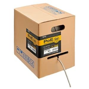 サンワサプライ CAT6LANケーブル PoE対応 LANケーブルのみ より線 レングスマーク付 200m ライトグレー KB-T6POE-CB200