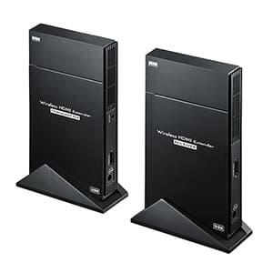 サンワサプライ ワイヤレスHDMIエクステンダー ワイヤレスHDMI送受信機セットモデル 据置タイプ VGA-EXWHD5