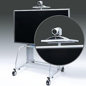 サンワサプライ 液晶・プラズマTVスタンド用TV会議カメラ設置台 CR-PL20専用 耐荷重10kg CR-PL20CT