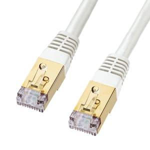 サンワサプライ カテゴリ7LANケーブル 単線二重シールド 高性能アルタネート方式 40m ホワイト KB-T7-40WN