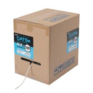 サンワサプライ カテゴリ5e自作用LANケーブル ケーブルのみ UTPタイプ 単線 レングスマーク付 リールボックスタイプ 300m イエロー KB-T5-CB300YN