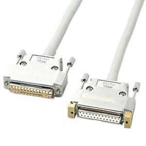 サンワサプライ RS-232C延長ケーブル ストレート全結線 D-sub25pinオス-D-sub25pinメス UL2464規格 5m KRS-004N