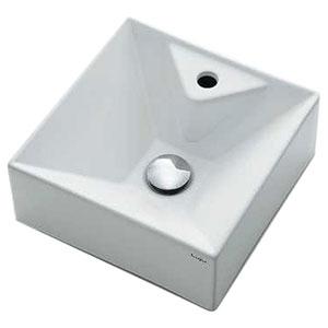 カクダイ 壁掛手洗器 《Luju》 壁掛専用 排水・国内7 専用バックハンガー付 493-086