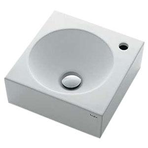 カクダイ 壁掛手洗器 《Luju》 壁掛専用 排水・国内7 専用バックハンガー付 493-087