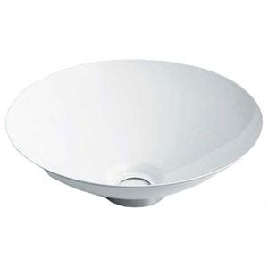 カクダイ 丸型手洗器 《鉄穴》 置型タイプ 排水・国内8 器固定金具付 ホワイト 493-039-W