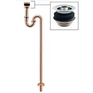 カクダイ 丸鉢つきSトラップ 十字ストレーナータイプ オーバーフロー機能なしの洗面・手洗器用 呼び径25 ピンクゴールド 433-317-25