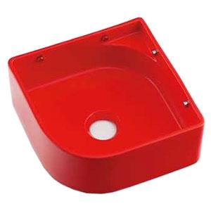 カクダイ 壁掛手洗器 《MINO》 壁掛専用 排水・国内8 ビス・プラグ付 レッド 493-048-R