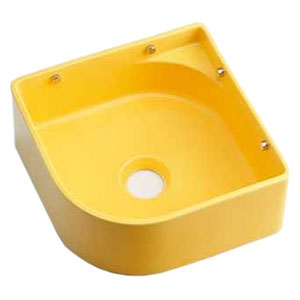 カクダイ 壁掛手洗器 《MINO》 壁掛専用 排水・国内8 ビス・プラグ付 イエロー 493-048-Y
