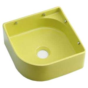 カクダイ 壁掛手洗器 《MINO》 壁掛専用 排水・国内8 ビス・プラグ付 イエローグリーン 493-048-YG