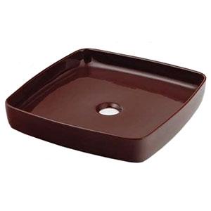 カクダイ 角型手洗器 《MINO》 置形タイプ 排水・国内8 ショコラ 493-096-BR