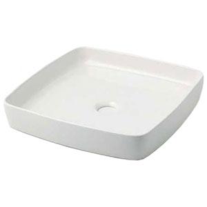 カクダイ 角型手洗器 《MINO》 置形タイプ 排水・国内8 シュガー 493-096-W