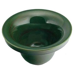 カクダイ 丸型手洗器 《碌珠》 オーバーカウンタータイプ 排水・国内7 青竹 493-099-GR