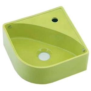 カクダイ 壁掛手洗器 《MINO》 壁掛専用 排水・国内8 ビス・プラグ付 イエローグリーン 493-150-YG
