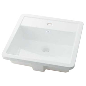 カクダイ アンダーカウンター式洗面器 《Luju》 オーバーカウンタータイプ 容量4.5L 排水・国内3 取付金具・オーバーフロー機能付 493-076
