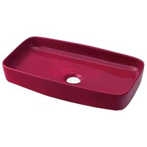 カクダイ 角型手洗器 《MINO》 置形タイプ 排水・国内8 ラズベリー 493-073-R
