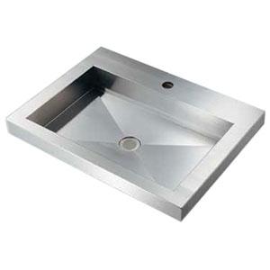 カクダイ 角型洗面器 《鉄穴》 半埋めタイプ 排水・国内8 493-162