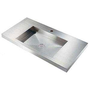カクダイ 角型洗面器 《鉄穴》 半埋めタイプ 排水・国内8 493-164