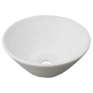 カクダイ 丸型手洗器 《瑠珠》 置型タイプ 排水・国内8 器固定金具付 月白 493-011-W