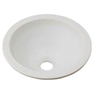 カクダイ 丸型手洗器 《瑠珠》 オーバーカウンタータイプ 排水・国内7 月白 493-013-W