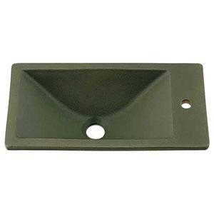 カクダイ 角型手洗器 《瑠珠》 オーバーカウンタータイプ 排水・国内7 松葉 493-010-YG