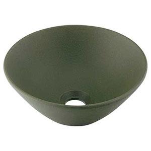 カクダイ 丸型手洗器 《瑠珠》 置型タイプ 排水・国内8 器固定金具付 松葉 493-011-YG