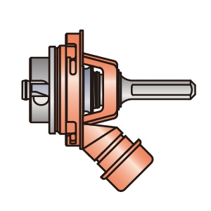 BOSCH 吸じんストレートシャンクL 適用サイズφ50mm以上 《ポリクリックシステム》 PC-SR/LE