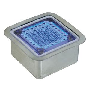 日動工業 ソーラーLEDタイル100 ステンレスケース付 全面発光・正方形 発光色:青 NFT0404B-SUS