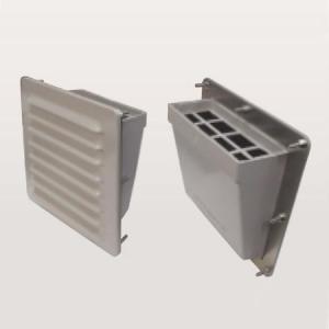 篠原電機 防噴流型ギャラリー カバー樹脂タイプ IP45 半ツヤ仕上げタイプ 鋼板・樹脂製 G2WS-30BFP2