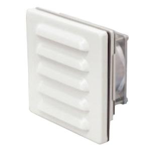篠原電機 ファン付ギャラリー 屋外使用可 IP45 ステンレス製 クリーム GFS-120C