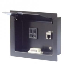 篠原電機 PCコネクタBOX コンパクトタイプ 通信用コネクタなし ブランクパネル付 PCBK-B