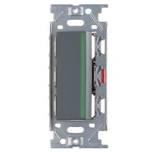 スガツネ工業 ガイドランプ付埋込シングルスイッチ AC125V 15A ソリッドグレー PXP-J-NKW01009-SG