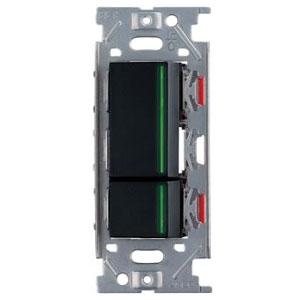 スガツネ工業 ガイドランプ付埋込ダブルスイッチ AC125V 15A ソフトブラック PXP-J-NKW02009-SB
