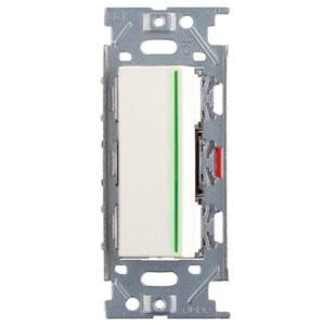 スガツネ工業 ガイドランプ付埋込シングルスイッチ AC125V 15A ピュアホワイト PXP-J-NKW01009-PW