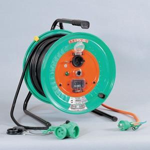 日動工業 延長コード型ドラム(びっくリール) 防雨防塵型 屋外型 30mタイプ 接地2P15A125V 自動復帰型センサー・アース付 コンセント数:3+1 VCT2.0×3 RBW-EK30S