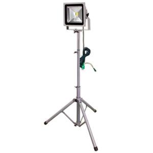 日動工業 LED作業灯 50W 三脚1灯式 簡易防雨型 昼光色 6000K 定格光束3370Lm LPR-S50L-3ME