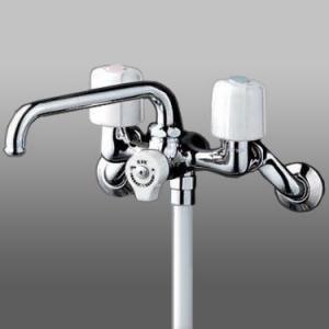 KVK 一時止水付2ハンドルシャワー 上向きパイプ仕様 KF104