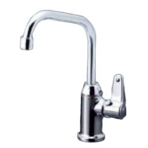 KVK 浄水器付水栓 ビルトイン浄水器接続専用 逆止弁付 分岐継手・フレキシブルホース600mm同梱 パイプ長:173mm K335GS