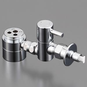 <title>KVK NEW ARRIVAL 流し台用シングルレバー式混合栓用分岐金具 KVK専用 逆止弁 緊急止水機能付 ZK556P</title>