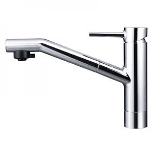KVK 流し台用シングルレバー式シャワー付混合栓 シャワー引出し式 逆止弁なし 寒冷地用 《equalシリーズ》 KM908Z