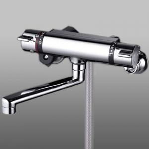 KVK サーモスタット式シャワー フルメッキシャワーヘッド付 メタリックホース1.6m 《KF800Tフルメタルシリーズ》 KF800TMB