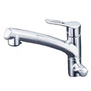 KVK 浄水器専用シングルレバー式シャワー付混合栓 シャワー引出し式 逆止弁付 水栓本体のみ 《KM5061Nシリーズ》 KM5061N