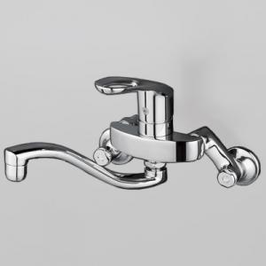 KVK シングルレバー式混合栓 寒冷地用 逆止弁なし 上向パイプ 泡沫吐水 《KM5000Tフルメタルシリーズ》 KM5000ZTH