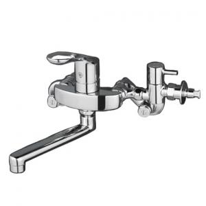 KVK 流し台用シングルレバー式混合栓 給水・給湯接続 分岐止水栓・逆止弁・緊急止水機能付 《KM5000CHTUシリーズ》 KM5000CHTTU