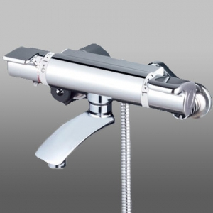 KVK サーモスタット式シャワー ワンストップシャワーヘッド付 寒冷地用 洗い場専用水栓 《KF890フルメタルシリーズ》 KF890WS2